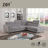 L Shape Sofa, Bella Fabric Sofa Cover Furniture Designs Metal Leg Sofa ZOY-98360