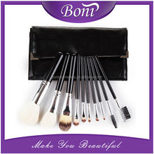 10PCS Pro Cosmetic Set Make up Brush Tool Kit makeup + Leather Case Pouch