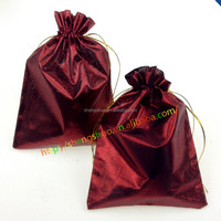 Satin Jewelry pouch for Wedding Candy, Colorized Satin gift bags