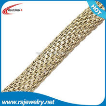 RS-7005 Factory outlet jewelry findings, 5mm brass concrete wire mesh for jewelry