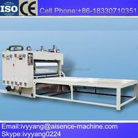 carton converting machine two color corrugated box printing cutting machine