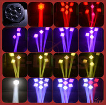 7pcs zoom stage rotating head light with LCD display, LEDs Individual control mini bee eye k5