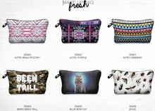 fashion beauty free pattern 3d print cosmetic bag high quality wholesale travel makeup cases with zippers pouch purses wallets