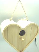 bamboo heart shaped bird house