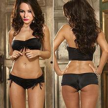 2014 sexy images beach swimsuit black young girl bikini SV001074