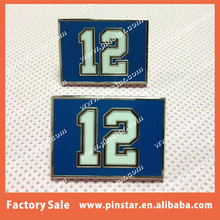 Factory Wholesale Top Quality Blue Color With Letters On Lapel Pin