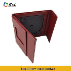 wholesale high quality good price leather cd case dvd case