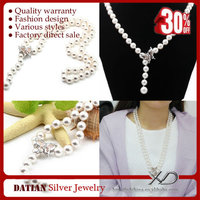 XD Newest fake round pearl necklace design with butterfly