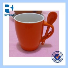 12OZ blank sublimation Inner and rim color ceramic mug