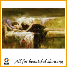 350g New sexy modern girl picture High Quality Decorative portrait Oil Painting On Canvas