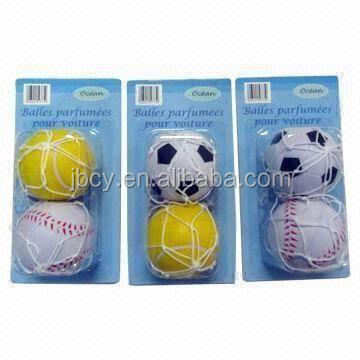 hot football car air freshener with net and cupula