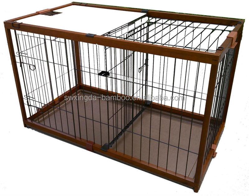 Eco- ไม้ไผ่ที่เป็นมิตรสัตว์เลี้ยงกรงสุนัขสุนัข