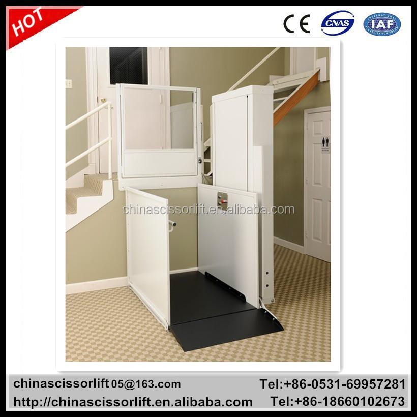 Small Home Lift Elevator Vertical Lift Platform For 1