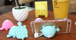 Wholesale price cute silicone rubber turtle stand for mobile phone, mobile phone holder