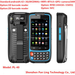 PL40 Ae046 portable gsm mini pc with android rfid reader and gprs