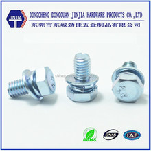 Standard 3 pcs din933 hex head screw with washer attached