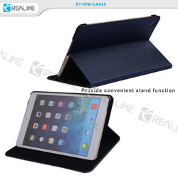 for ipad mini 3 ultra slim case with folio viewing stand function, precise camera hole