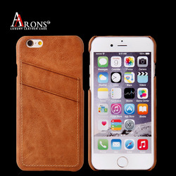 First grain genuine leather case for iphone 6s mobile phone cover