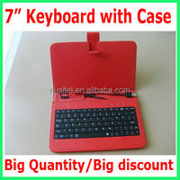 Bigger quantities bigger discount!! 7 inch Tablet Keyboard with case black white pink red