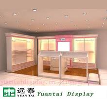 Clothes shopping mall decoration clothes kiosk design clothes showcase/cabinet
