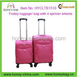 2015 Newest Hot Sale 4 wheels Trolley Bag Luggage Bag