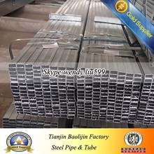 80*60mm Pre galvanized Welded Rectangular Hollow Section astm a500 grade b steel pipe