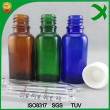 factory sale!!! 30ml Essential oil glass vials with child&tamper evident cap