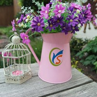 Pink home or Wedding decorative galvanised Metal Pitcher