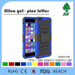 2 In 1 Design Dual Layer Armor Kickstand Silicone Cell Phone Case for iphone 6/iphone plus