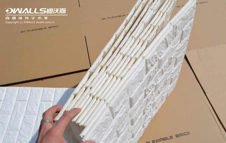Wholesale korean style pe foam 3d brick self adhesive waterproof wallpapers diy brick wall - Plaquette de parement adhesive ...
