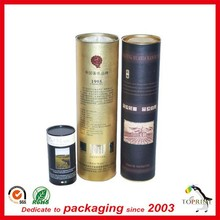 Alibaba china new product printed paper Custom cardboard cylinder wine gift box packaging tube