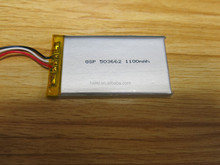 gsp053062 rechargeable polymer lithium battery 3.7v 1100mah,1100mah 3.7v replacement tablet battery