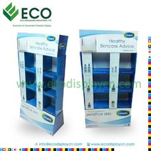 Cardboard paper display for skin care products