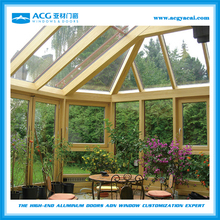 Surface treatment for Wooden aluminum glass room
