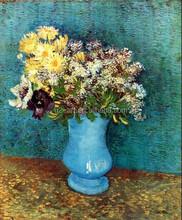 Still life art Vase with Flieder, Margerites und Anemones by Van Gogh artworj