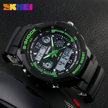 hot selling dual time zone analog digital plastic wrist watches for men in india