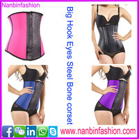 New arrival crochet hook big eyes latex waist trainer corset