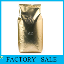 Customized Plastic Aluminum foil Coffee Heat Seal Bags with Air Hole For Coffee