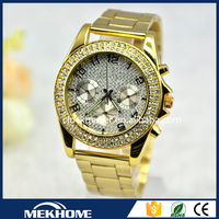 mens stainless steel quartz goldlis watch/watch mk/watch geneva