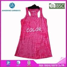 Fashion Women Burnout Tank Top Custom Logo Neon Tank Top For Jogging