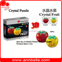 plastic 3D puzzle tomato puzzle crystal puzzle