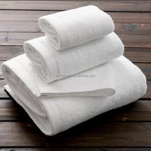 EAswet European standard 100% cotton super soft plain white hotel bath towel set
