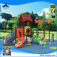 Cheap Outdoor kids residential playground stainless steel slides