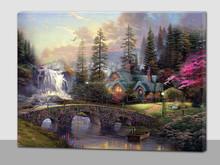 LED light canvas frames canvas picture with LED light landscape of spring