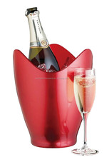 Metal Aluminum Champagne Bucket in Wave shape