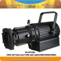 VanGaa High Brightness High CRI Spot Lighting 150W LED Lens Profile Spot Theater Light