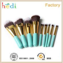 9 pcs human hair makeup brush hot selling in HongKong