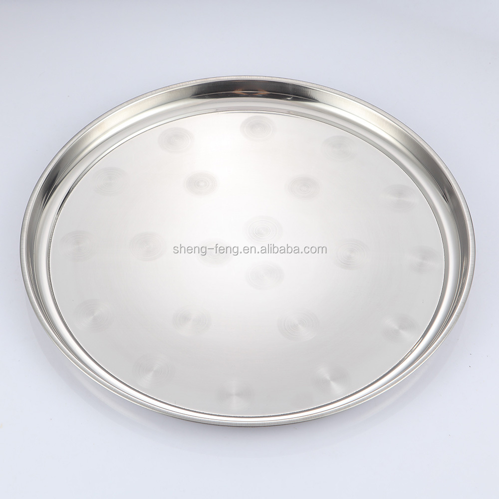 50cm Heavy-duty round thickning stainless steel tray