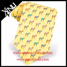 Men Animal Pattern Custom Printed Silk Necktie