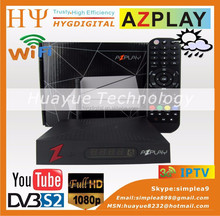 AZPLAY HD With Wifi in stock! HD DVB-S2 digital satellite receiver decoder Better than Openbox M4 mini in stock
